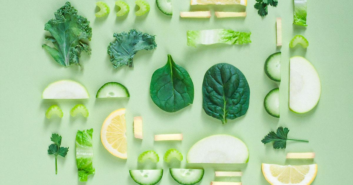 Légumes verts aliments froids en diététique chinoise